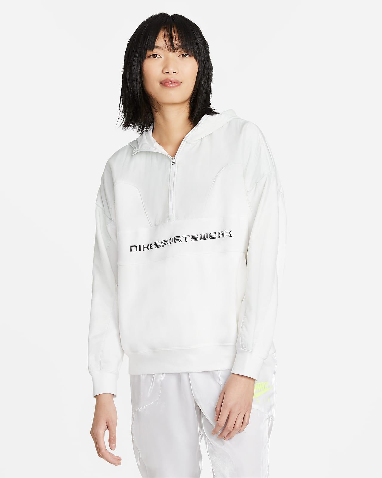 Sudadera con capucha de cierre 1/4 para mujer Nike Sportswear