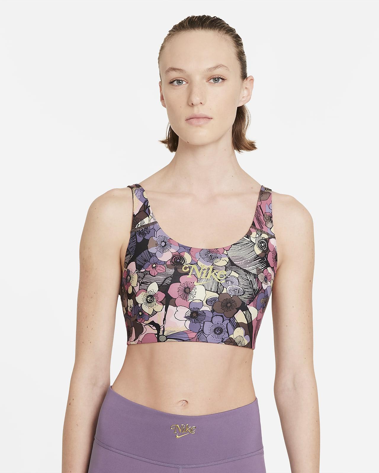 Nike Dri-FIT Swoosh Women's Medium-Support 1-Piece Pad Floral Sports Bra