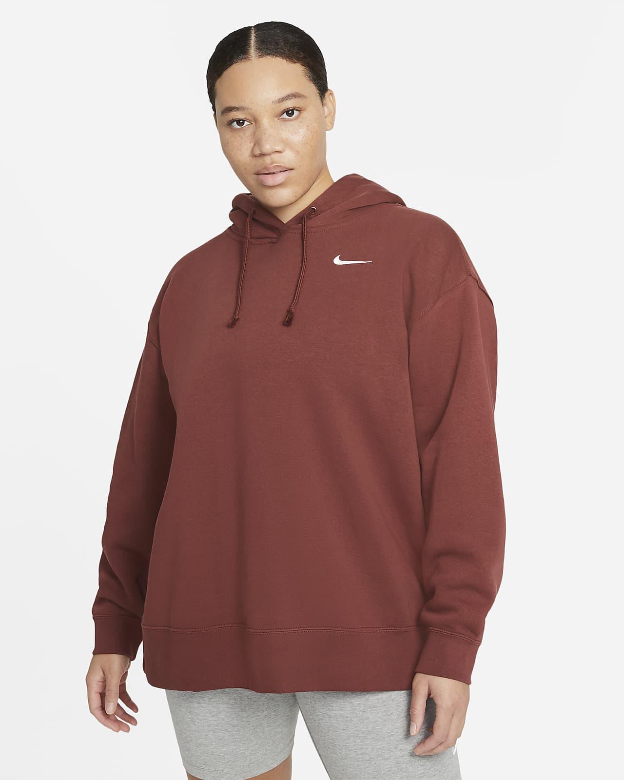 Sudadera sin cierre de tejido Fleece para mujer Nike Sportswear (talla grande)