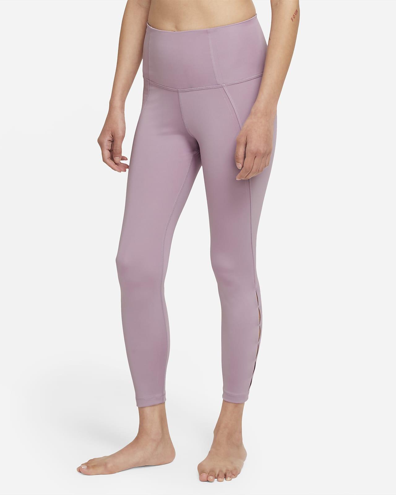 Nike Yoga Dri-FIT 女款高腰鏤空九分內搭褲
