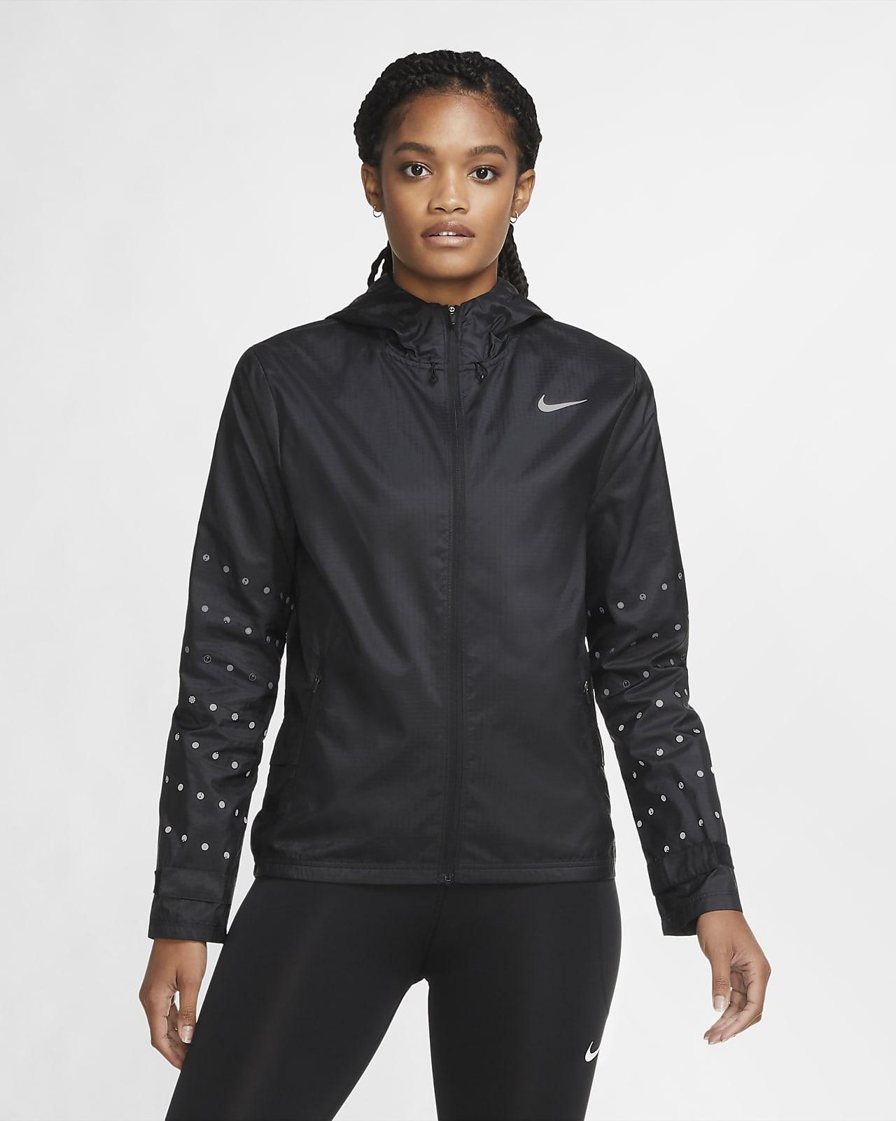Veste de running à capuche Nike Essential Flash pour Femme