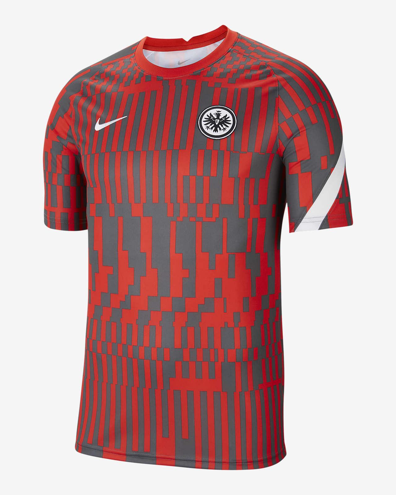 Eintracht Frankfurt Men's Pre-Match Short-Sleeve Football Top