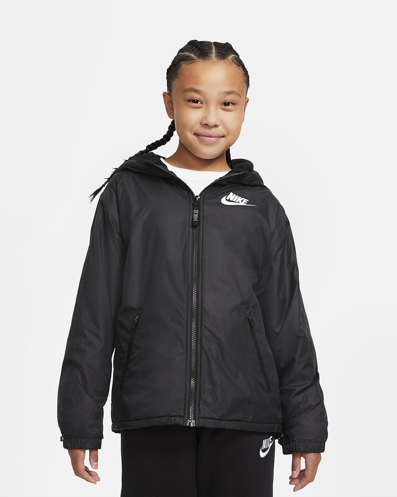 Nike Sportswear jakke med fleecefôr til store barn