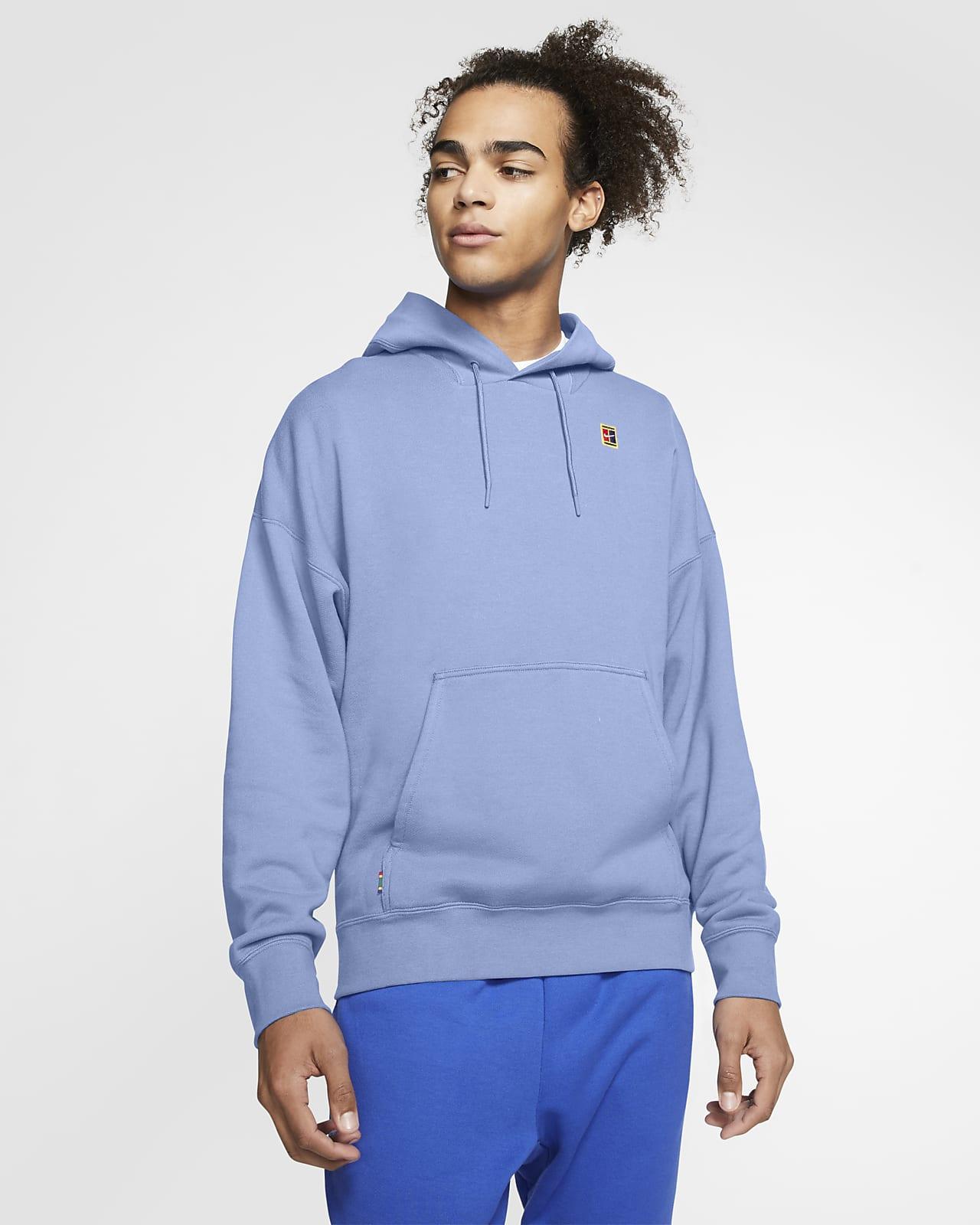 Tennishuvtröja NikeCourt i fleece för män