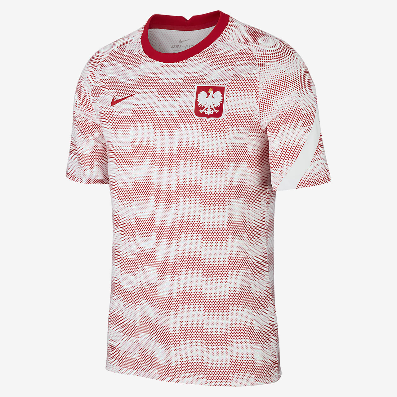Polen Kurzarm-Fußballoberteil für Herren