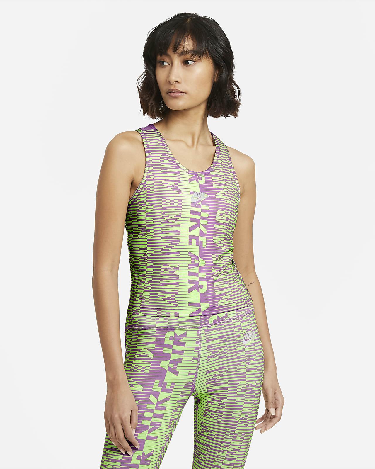 Camisola de running sem mangas estampada Nike Air para mulher