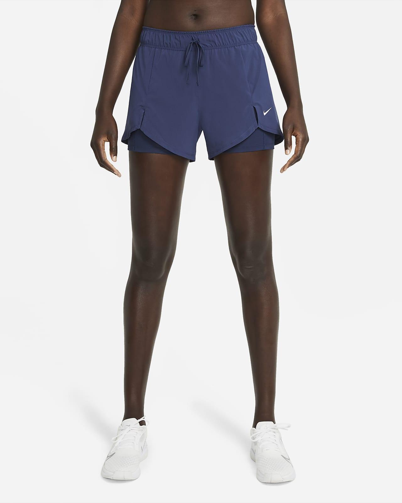 กางเกงเทรนนิ่งขาสั้นผู้หญิง Nike Flex Essential 2-in-1
