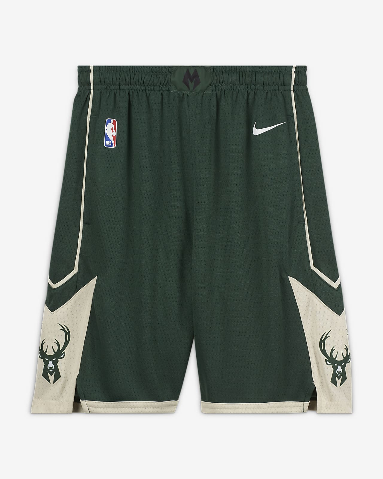 Milwaukee Bucks Icon Edition Older Kids' Nike NBA Swingman Shorts