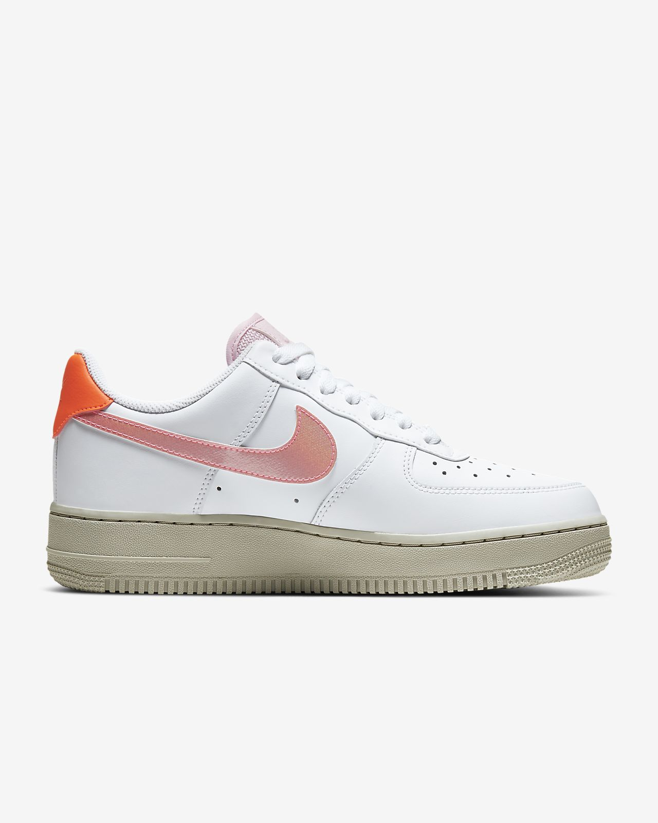 nike air force 1 low biały and pink