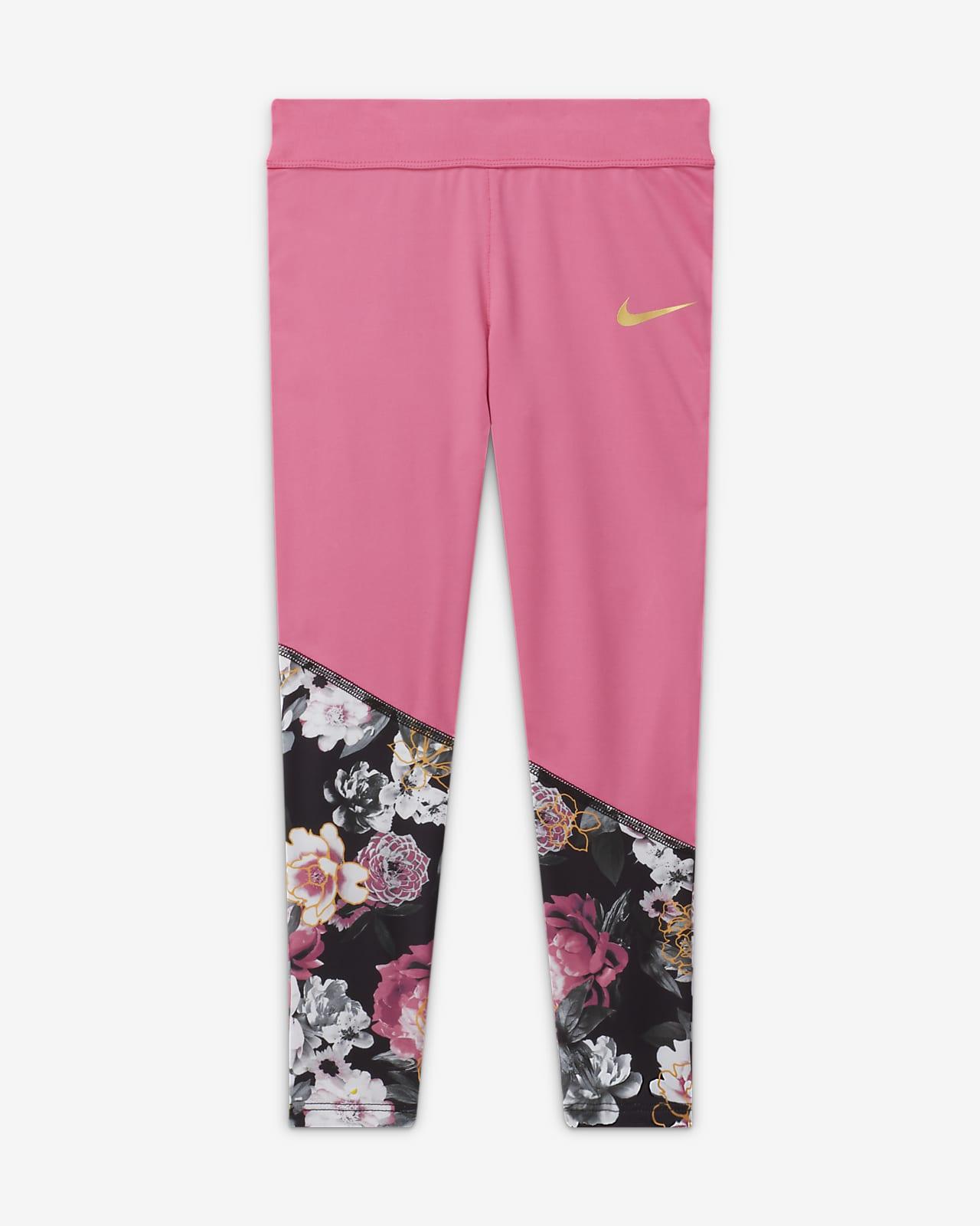 Nike Dri-FIT Little Kids' Floral Capri Leggings