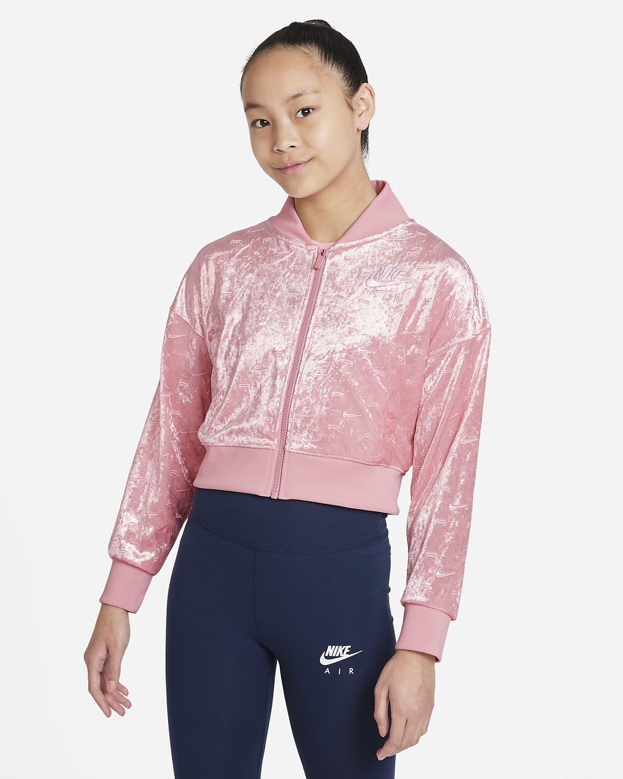Nike Air Big Kids' (Girls') Crop Jacket