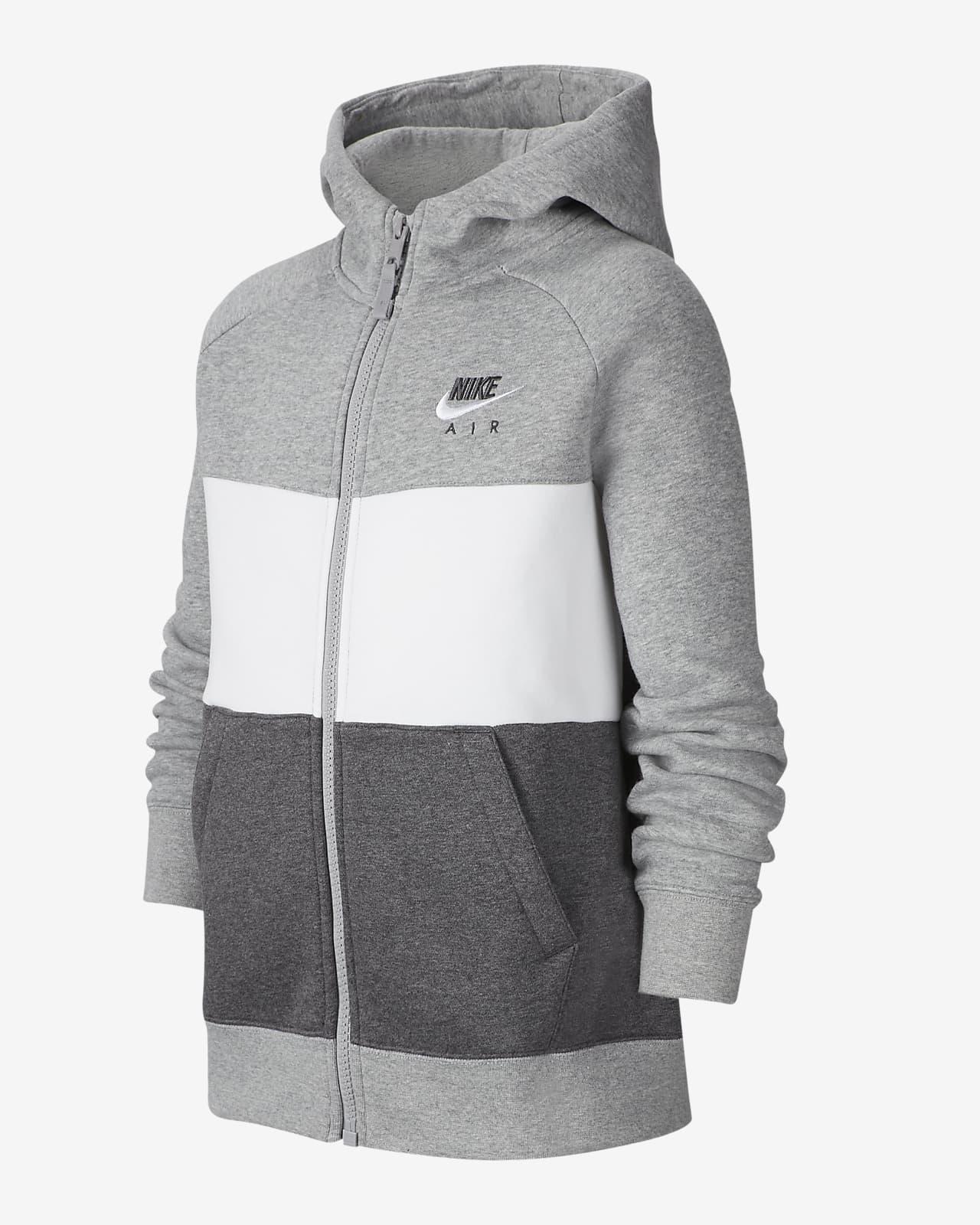 Sudadera con capucha de cierre completo para niño talla grande Nike Air