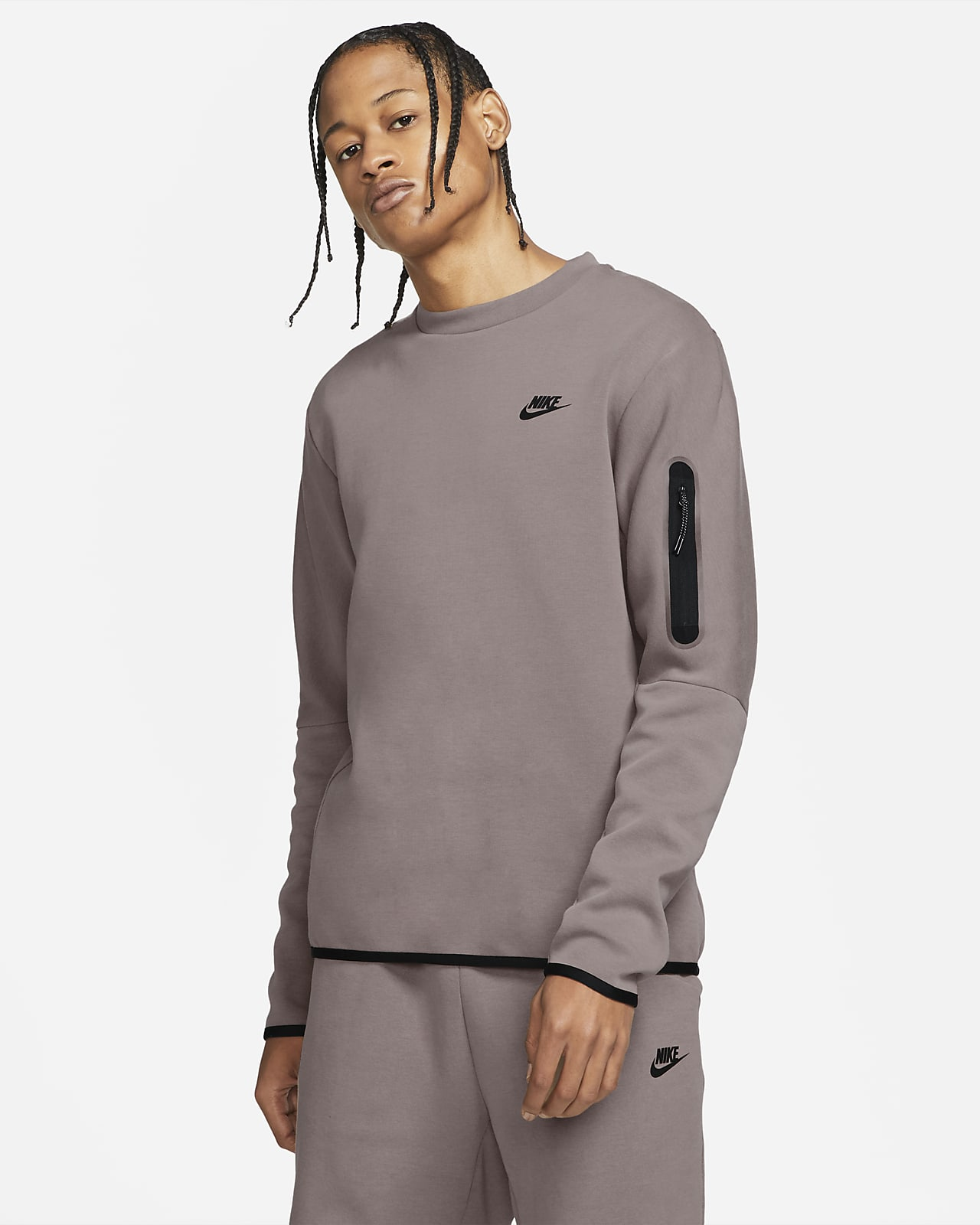 Nike Sportswear vasket Tech fleece-genser til herre