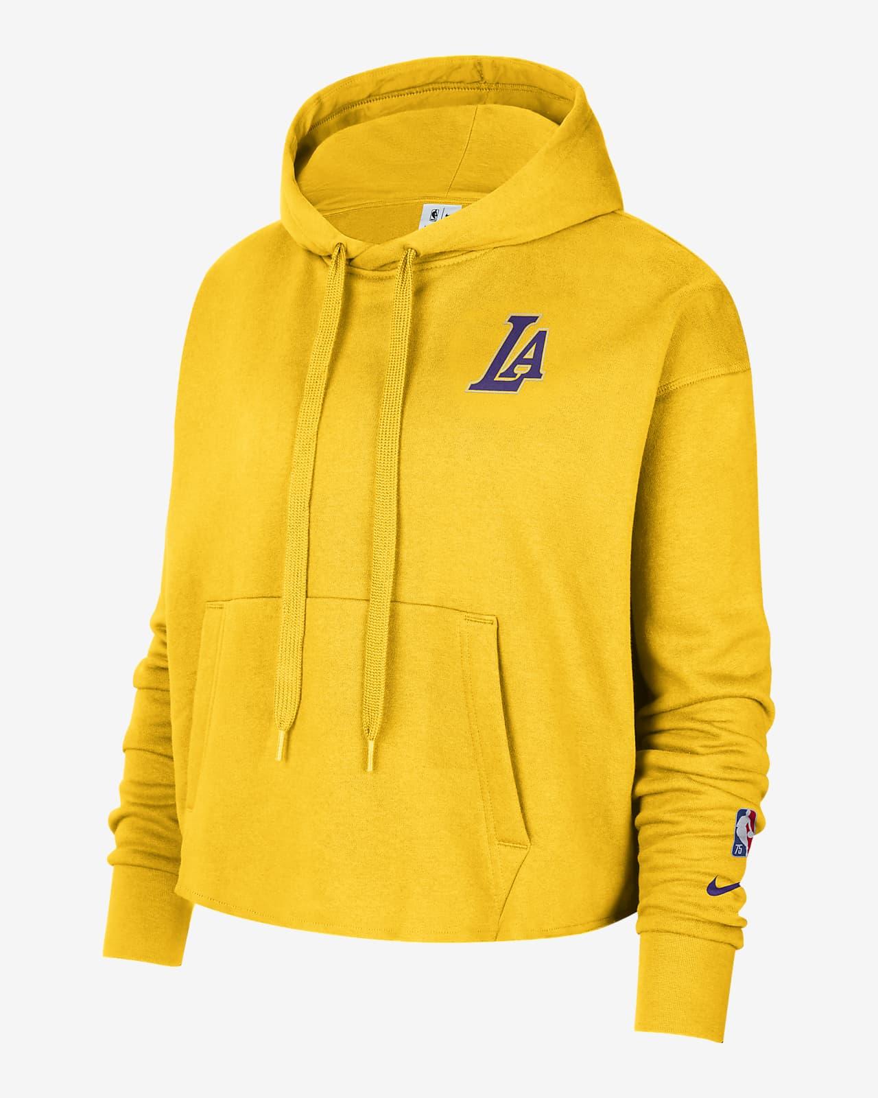 Los Angeles Lakers Nike NBA-fleecehettegenser til dame