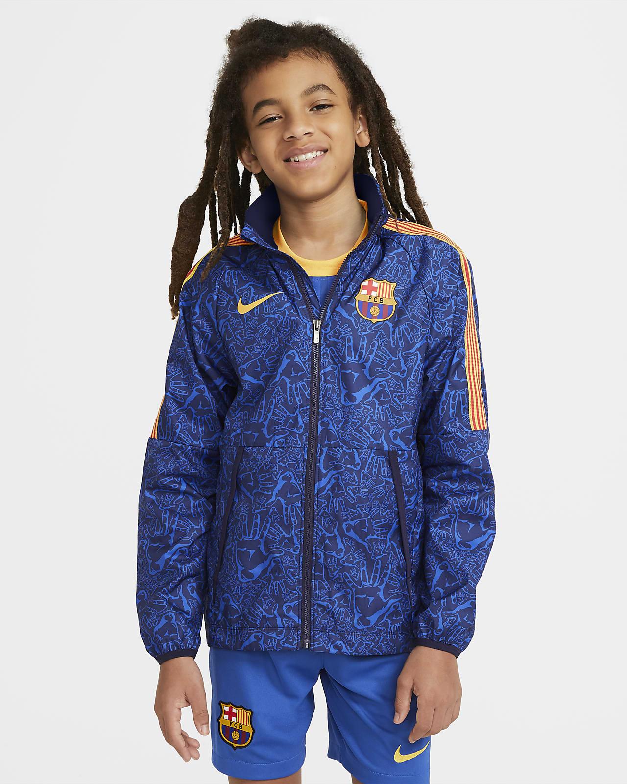 Ποδοσφαιρικό τζάκετ Μπαρτσελόνα AWF για μεγάλα παιδιά