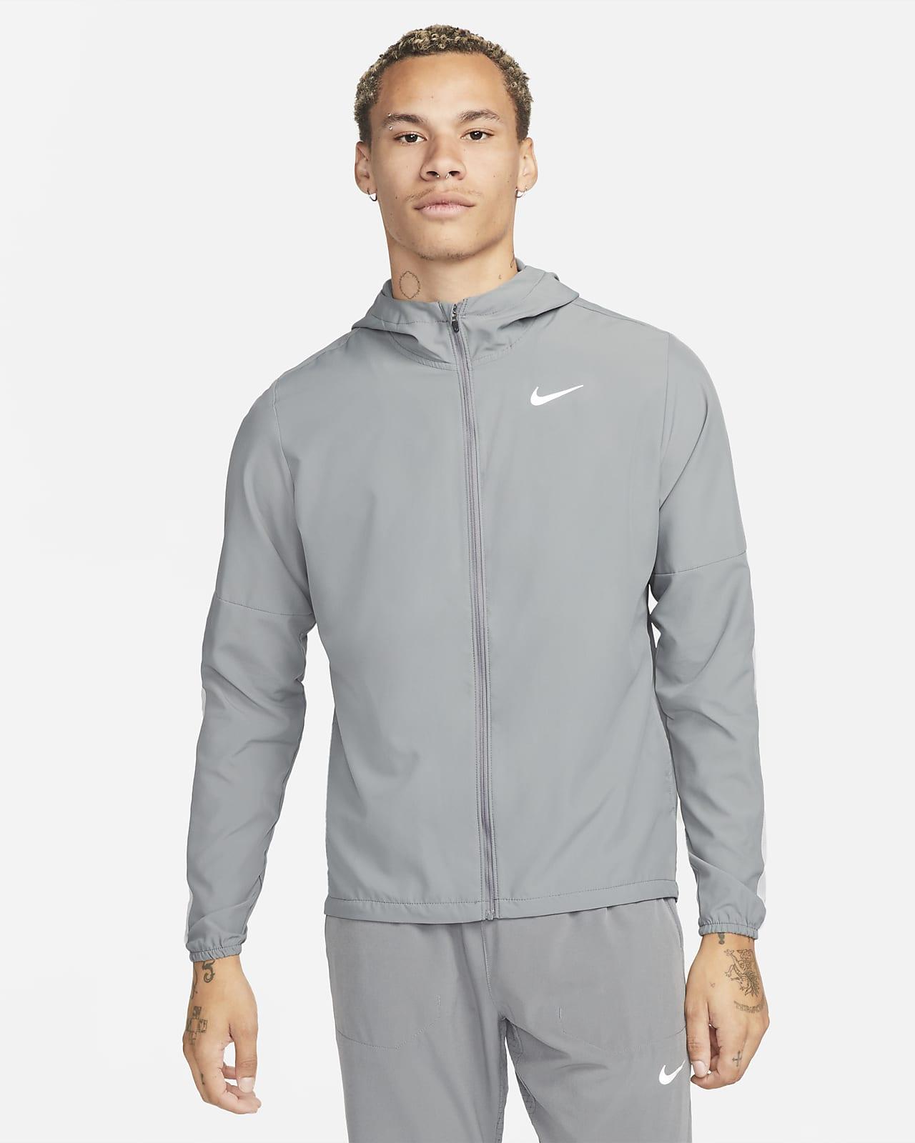 Vävd löparjacka Nike Run Stripe för män