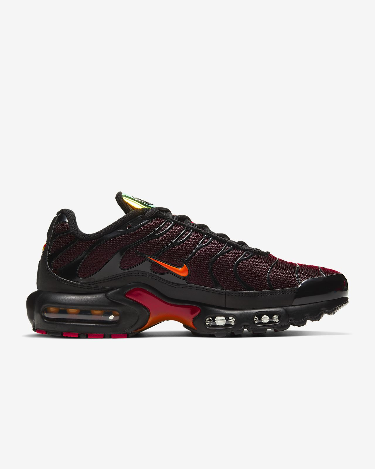 The Nike Air Max Plus Goes All Red •