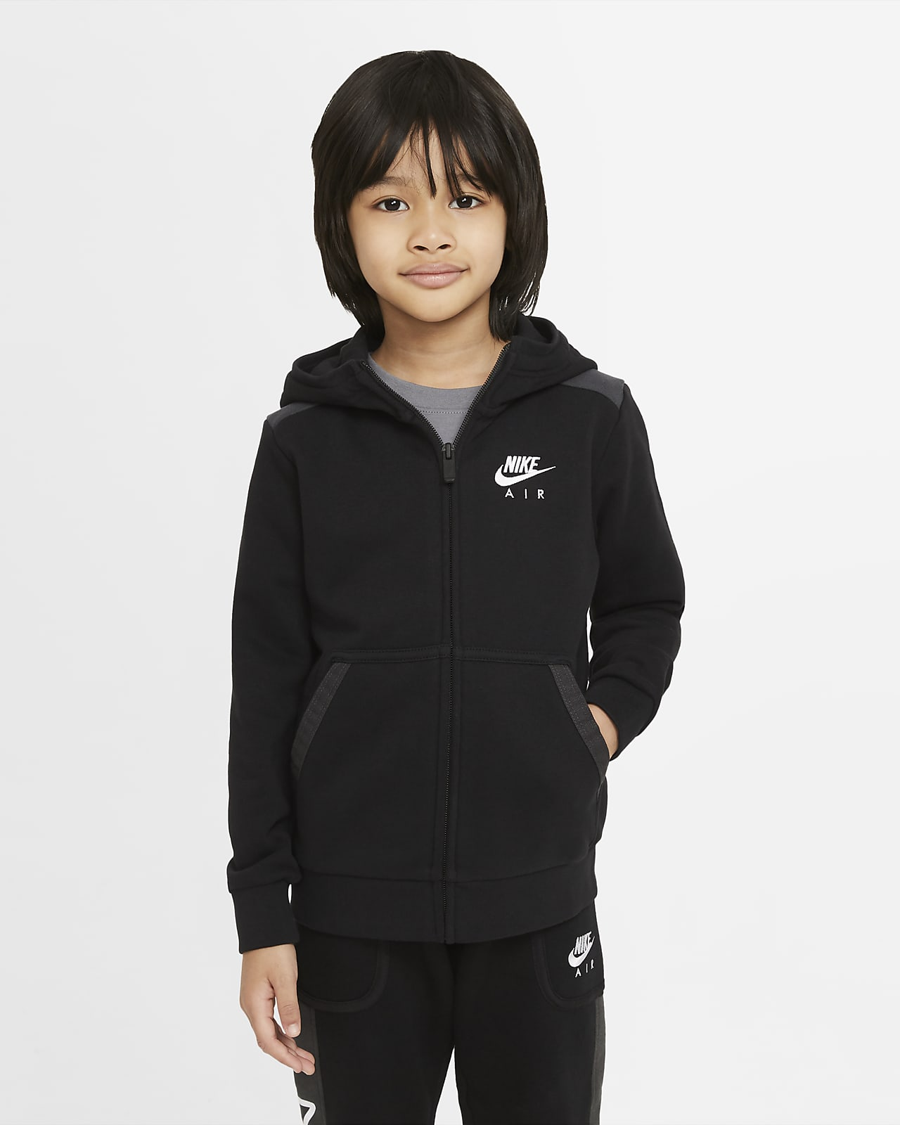 Nike Air 幼童全长拉链开襟连帽衫