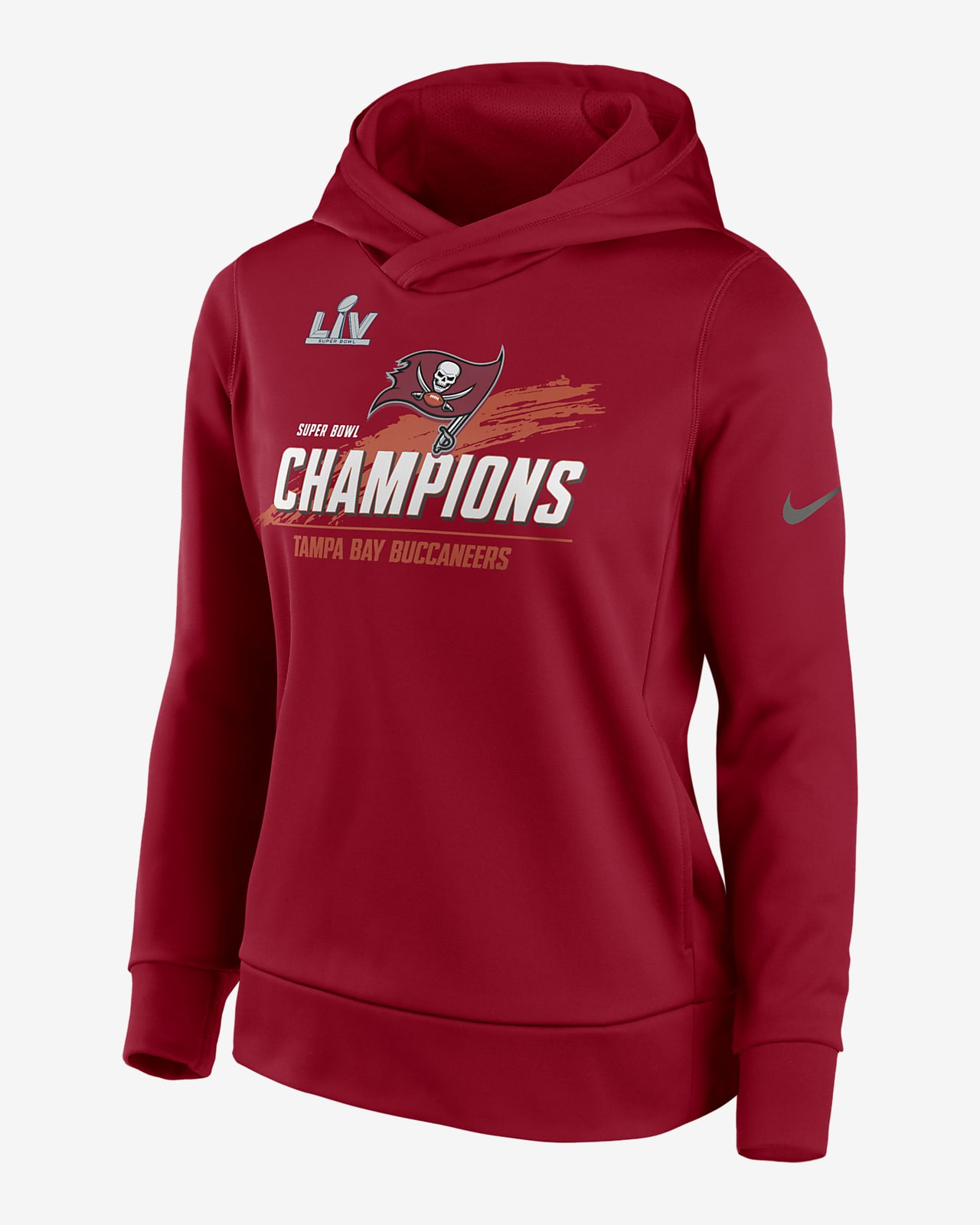Nike Therma Super Bowl LV Champions (NFL Tampa Bay Buccaneers) Women's Pullover Hoodie