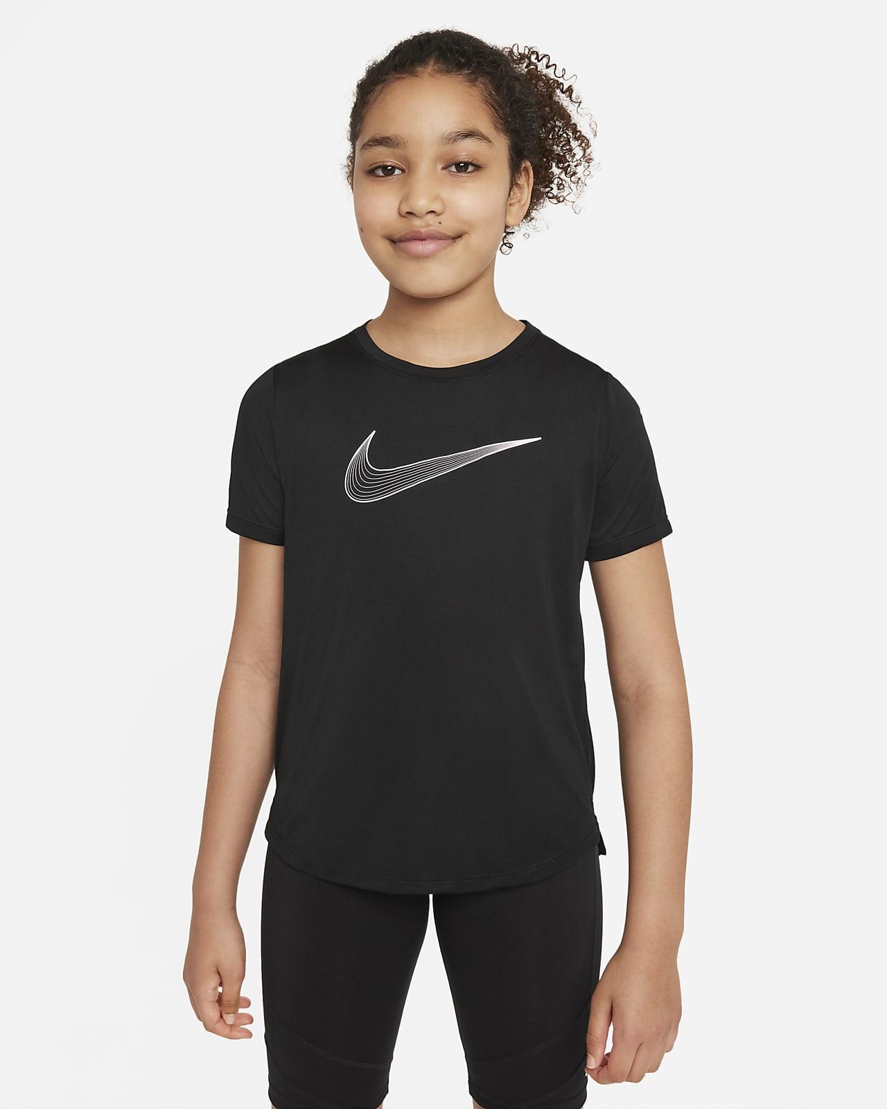 Nike Dri-FIT One 大童 (女童) 短袖訓練上衣