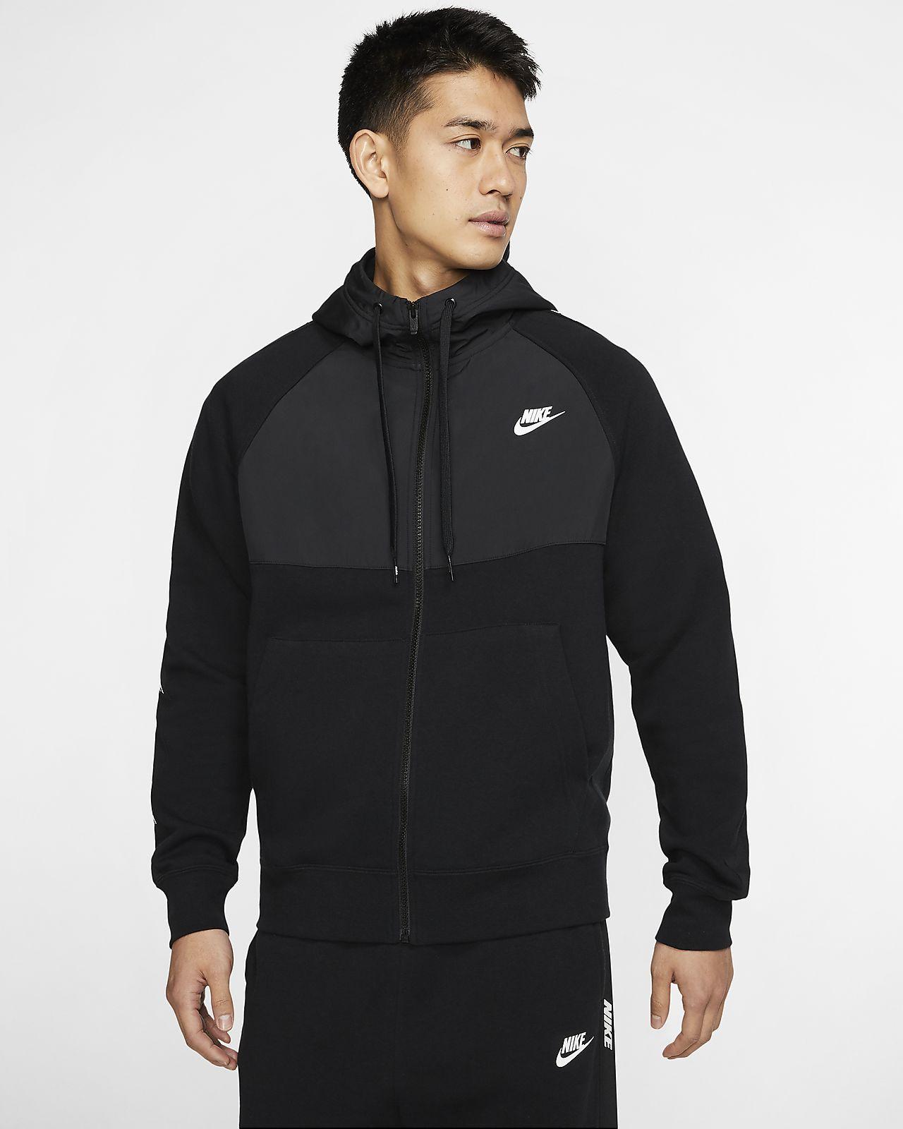 Nike Sportswear 男子全长拉链开襟连帽衫