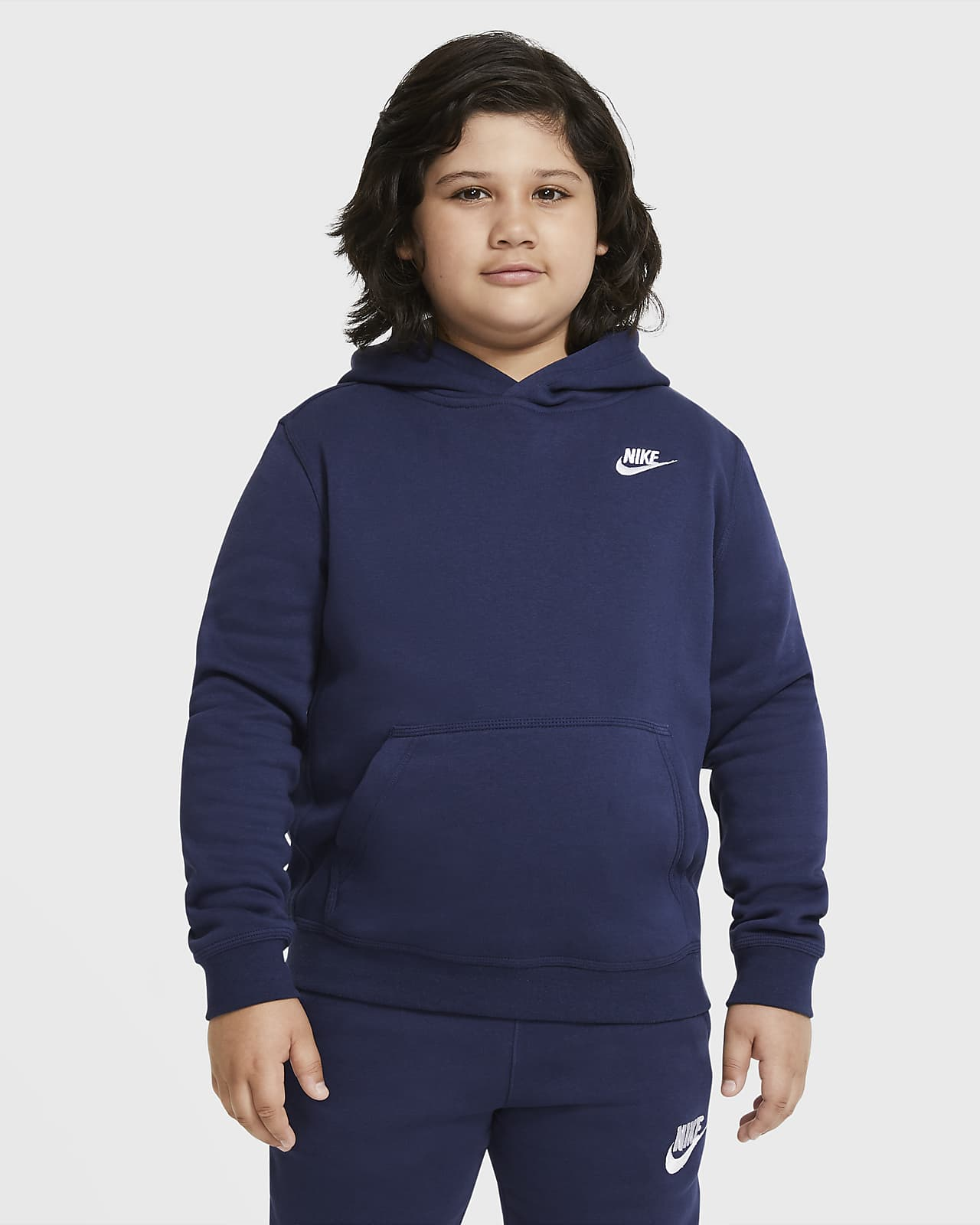Nike Sportswear Club Fleece Big Kids' (Boys') Pullover Hoodie (Extended Size)