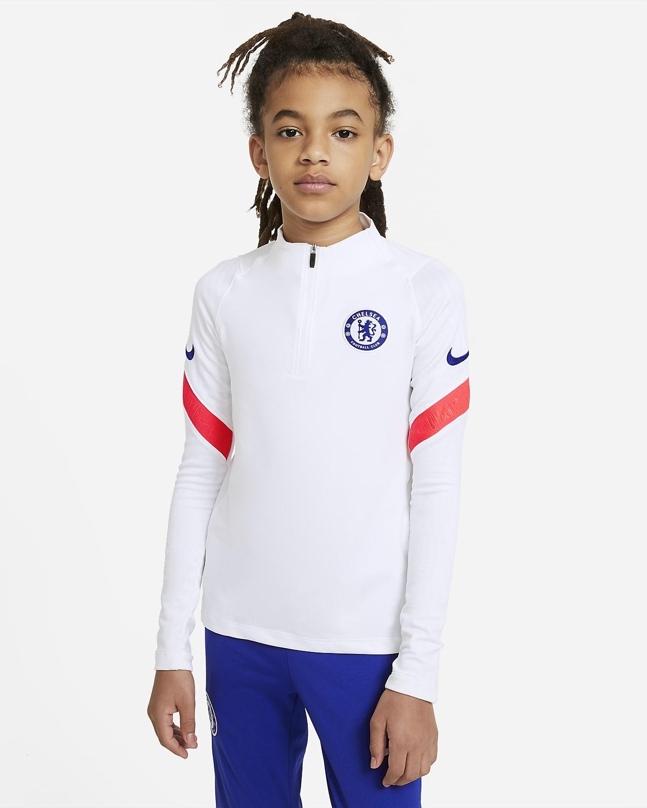 Haut d'entraînement de football Chelsea FC Strike pour Enfant plus âgé