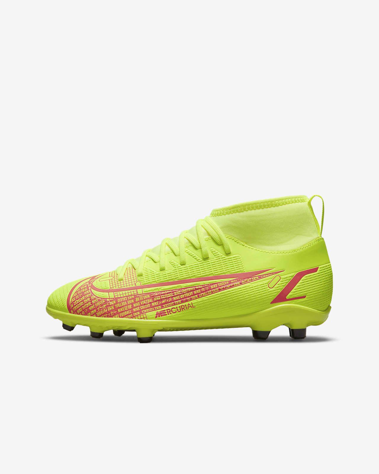รองเท้าสตั๊ดฟุตบอลเด็กเล็ก/โตสำหรับพื้นหลายประเภท Nike Jr. Mercurial Superfly 8 Club MG