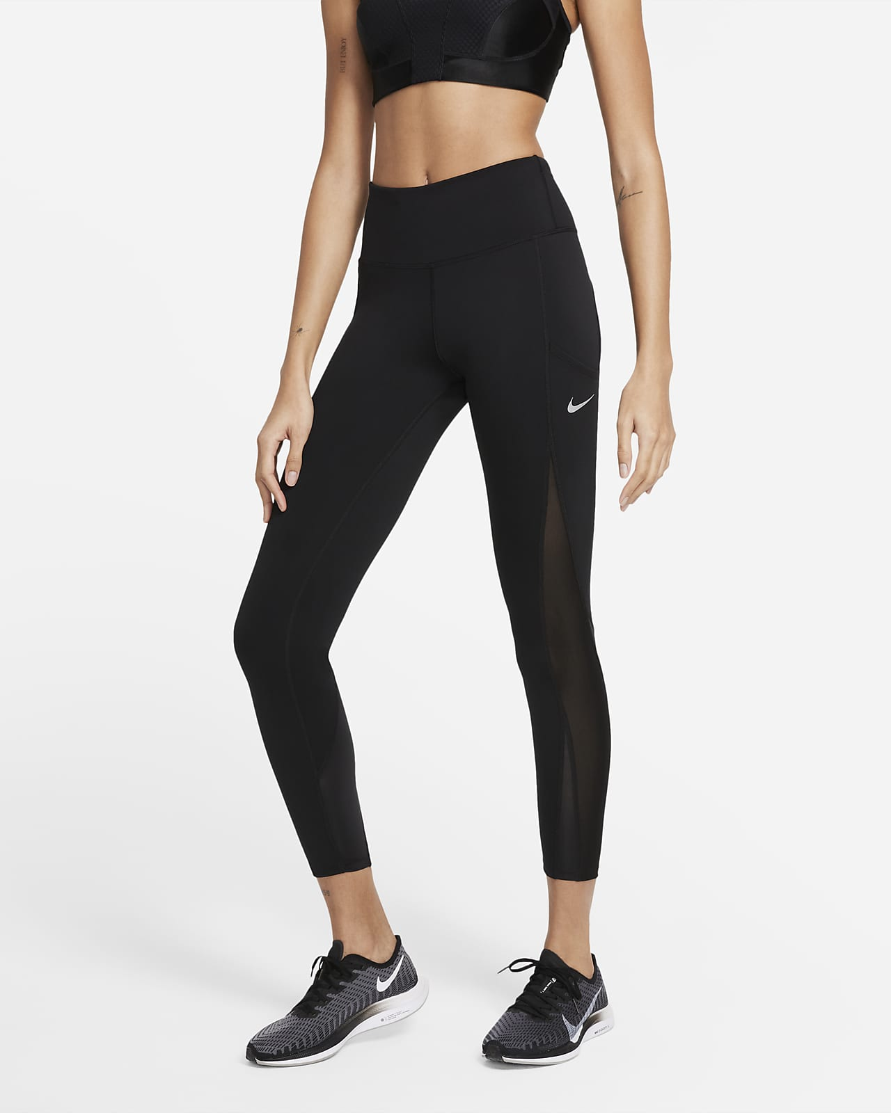 Nike Epic Luxe Cool løpeleggings i 7/8 lengde med mellomhøyt liv til dame