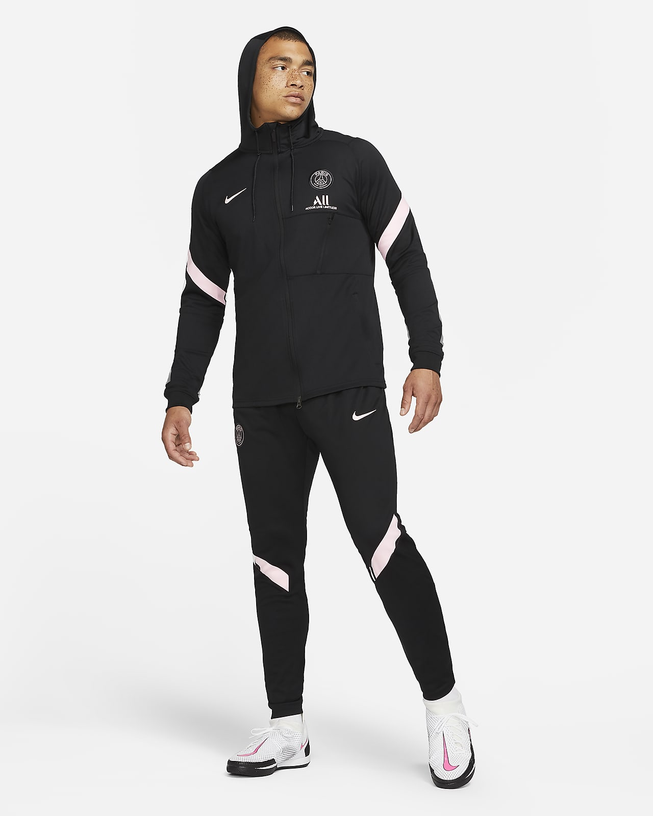 Fato de treino de futebol Nike Dri-FIT do equipamento alternativo Strike Paris Saint-Germain para homem
