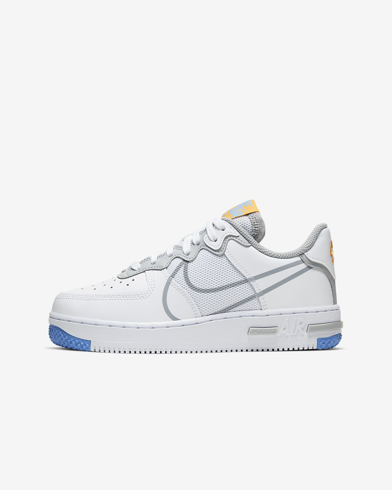 Nike Air Force 1 React-sko til store børn