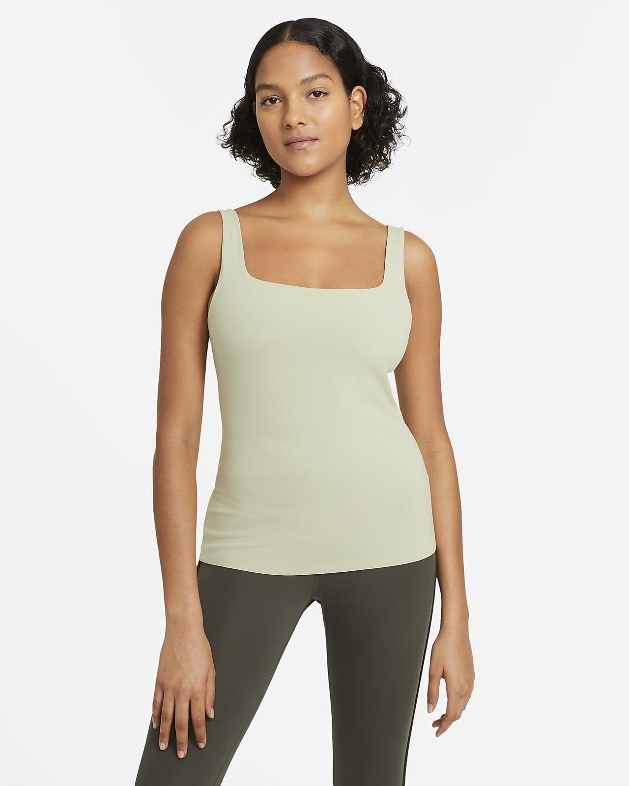 Camiseta de tirantes con bra para mujer Nike Yoga Luxe