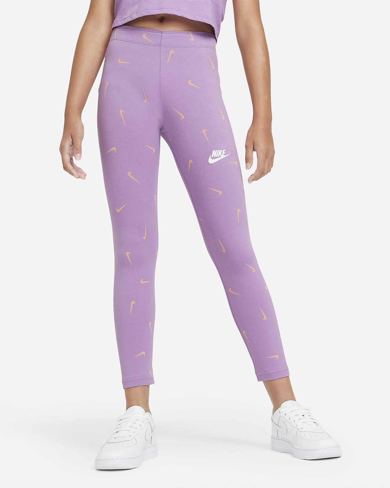 Legginsy z nadrukiem dla dużych dzieci (dziewcząt) Nike Sportswear