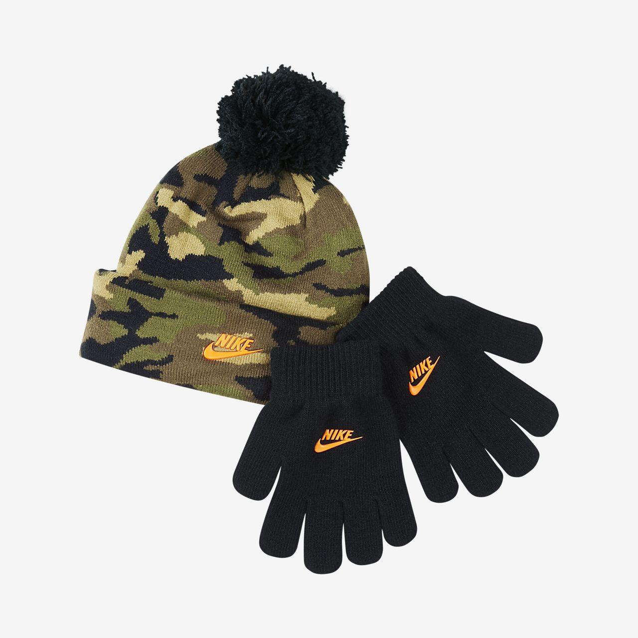 Mentalidad Universidad pesadilla  Nike Conjunto de gorro y guantes - Niño/a pequeño/a. Nike ES