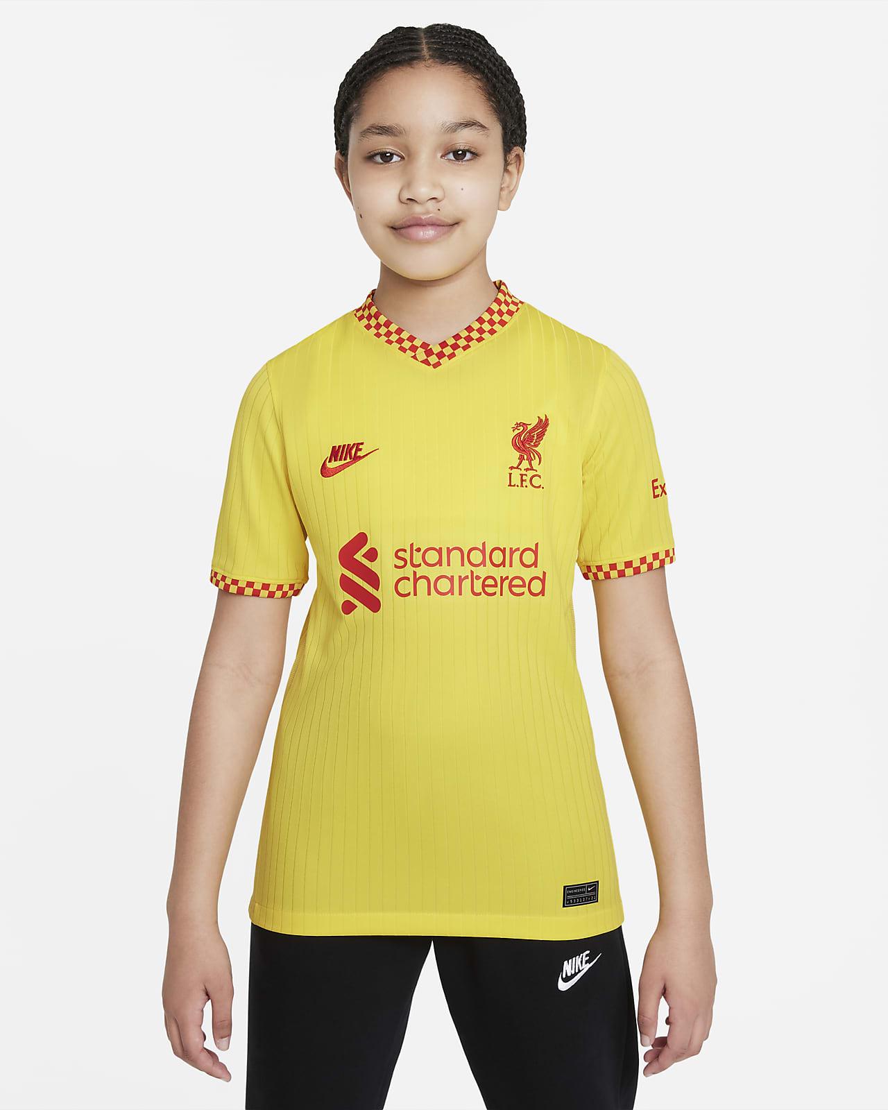 Ποδοσφαιρική φανέλα Nike Dri-FIT εναλλακτικής εμφάνισης Λίβερπουλ 2021/22 Stadium για μεγάλα παιδιά