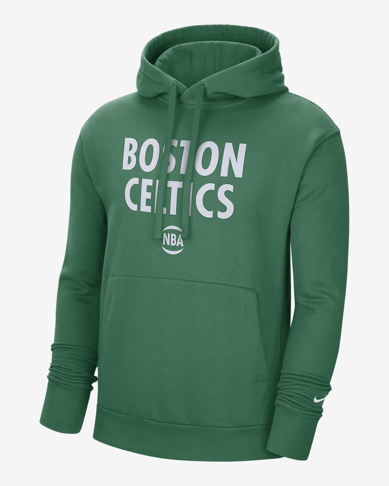 Boston Celtics City Edition Logo Nike NBA-s belebújós, kapucnis férfipulóver
