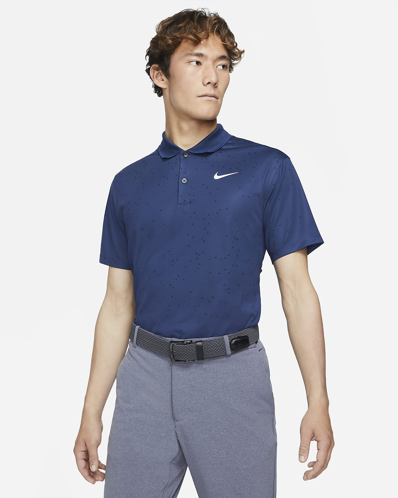 Nike Dri-FIT Victory 男款高爾夫球印花有領衫