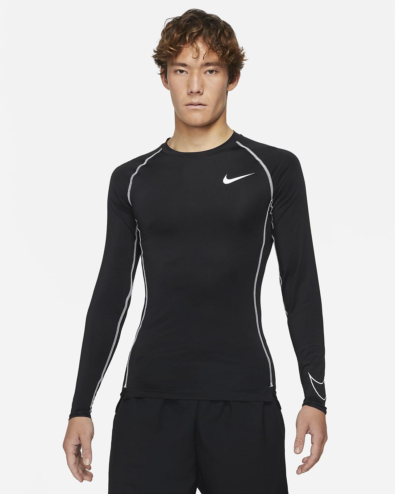 เสื้อแขนยาวผู้ชายทรงรัดรูป Nike Pro Dri-FIT
