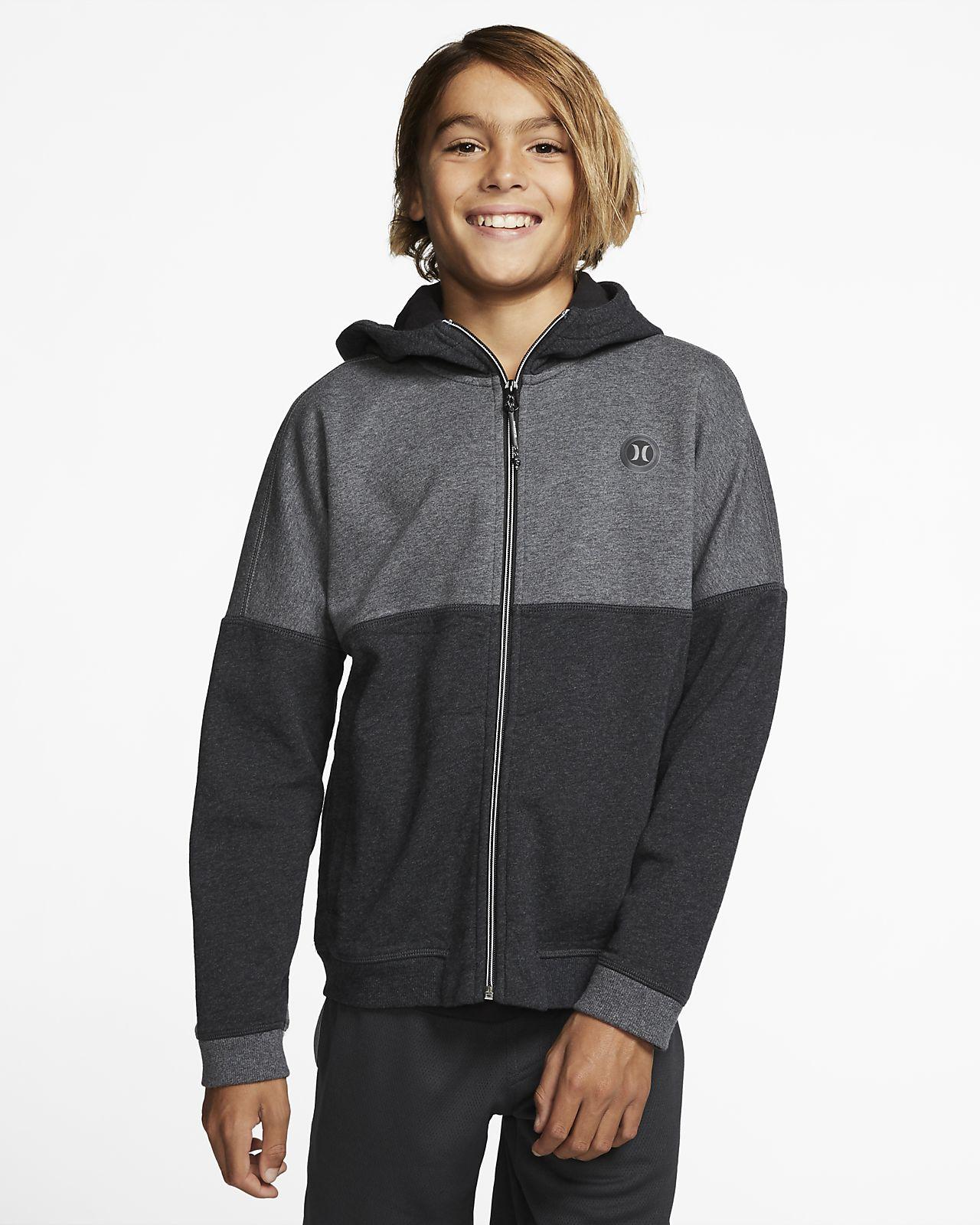 Felpa in fleece con cappuccio e zip a tutta lunghezza Hurley Therma Protect Blocked - Bambino/Ragazzo