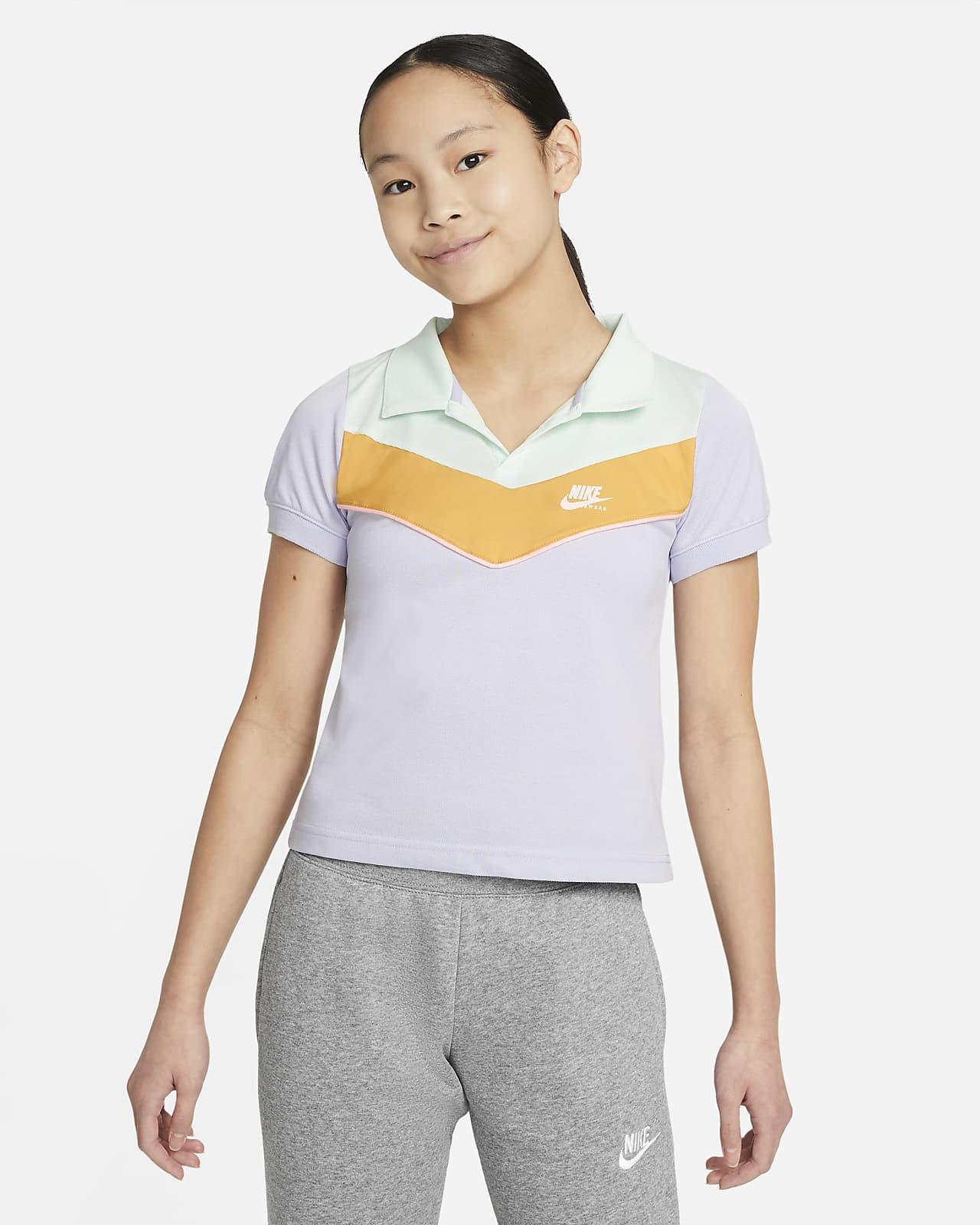 Nike Sportswear Heritage Older Kids' (Girls') Polo