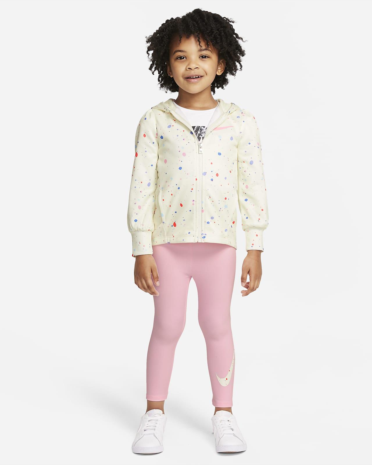 Conjunto de sudadera con gorro y leggings para niños pequeños Nike