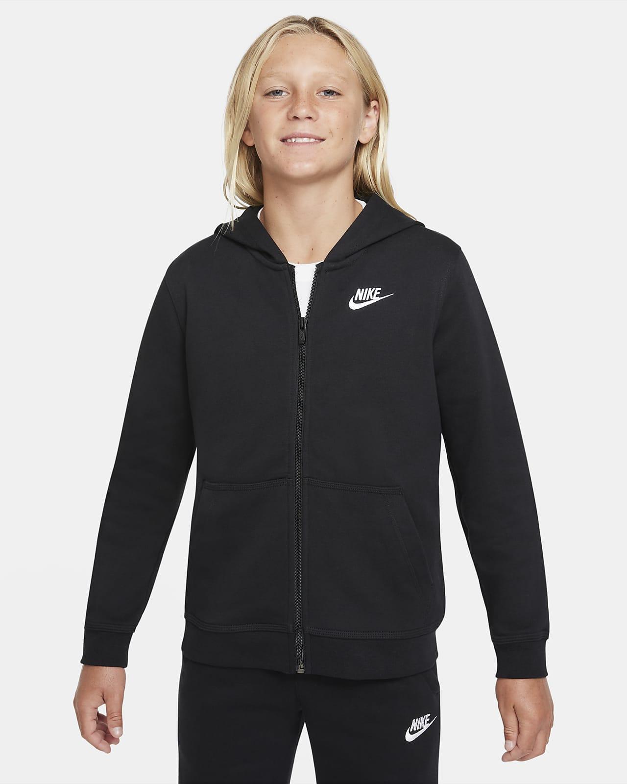Sweat à capuche à zip en molleton Nike Sportswear Club pour Garçon plus âgé