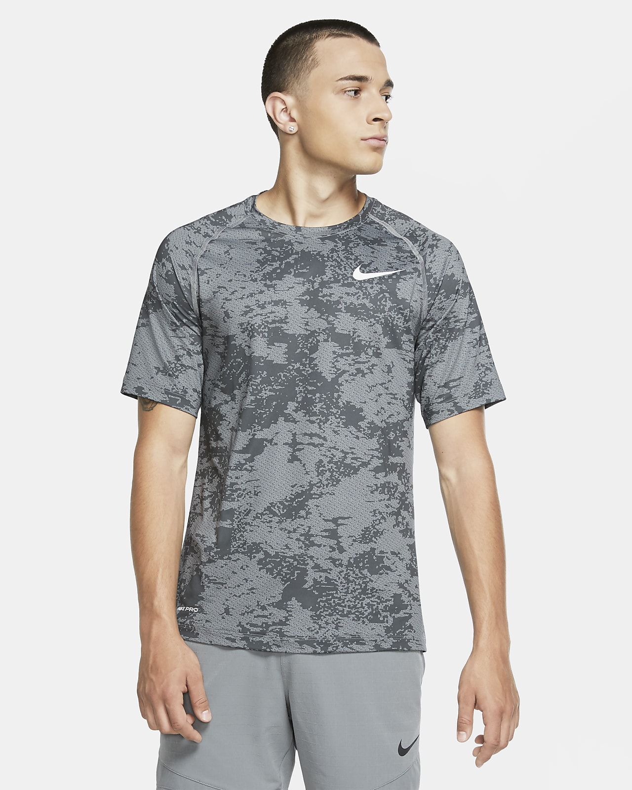 Nike Pro Men's Camo Short-Sleeve Top