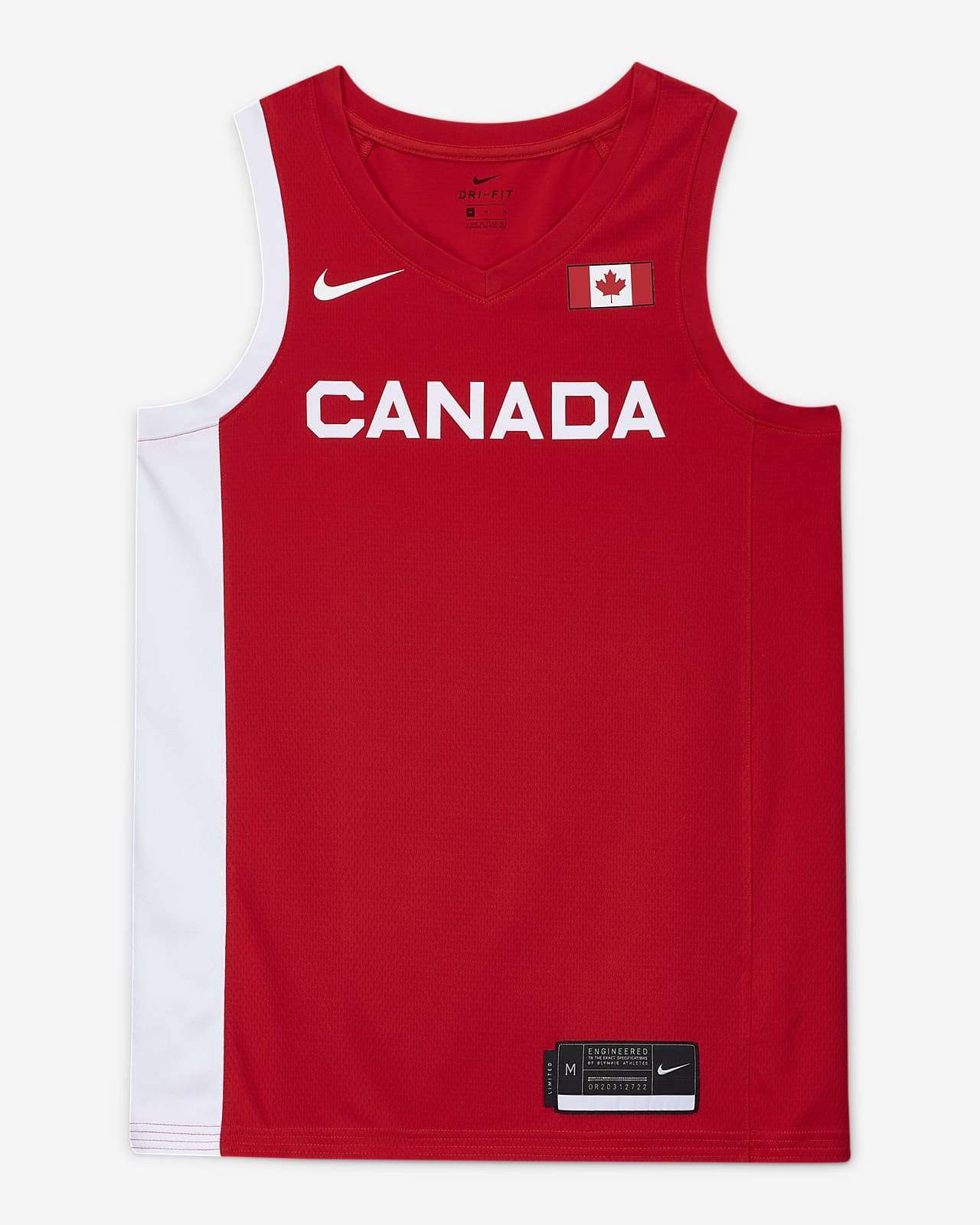 Мужское баскетбольное джерси Canada Nike (Road) Limited