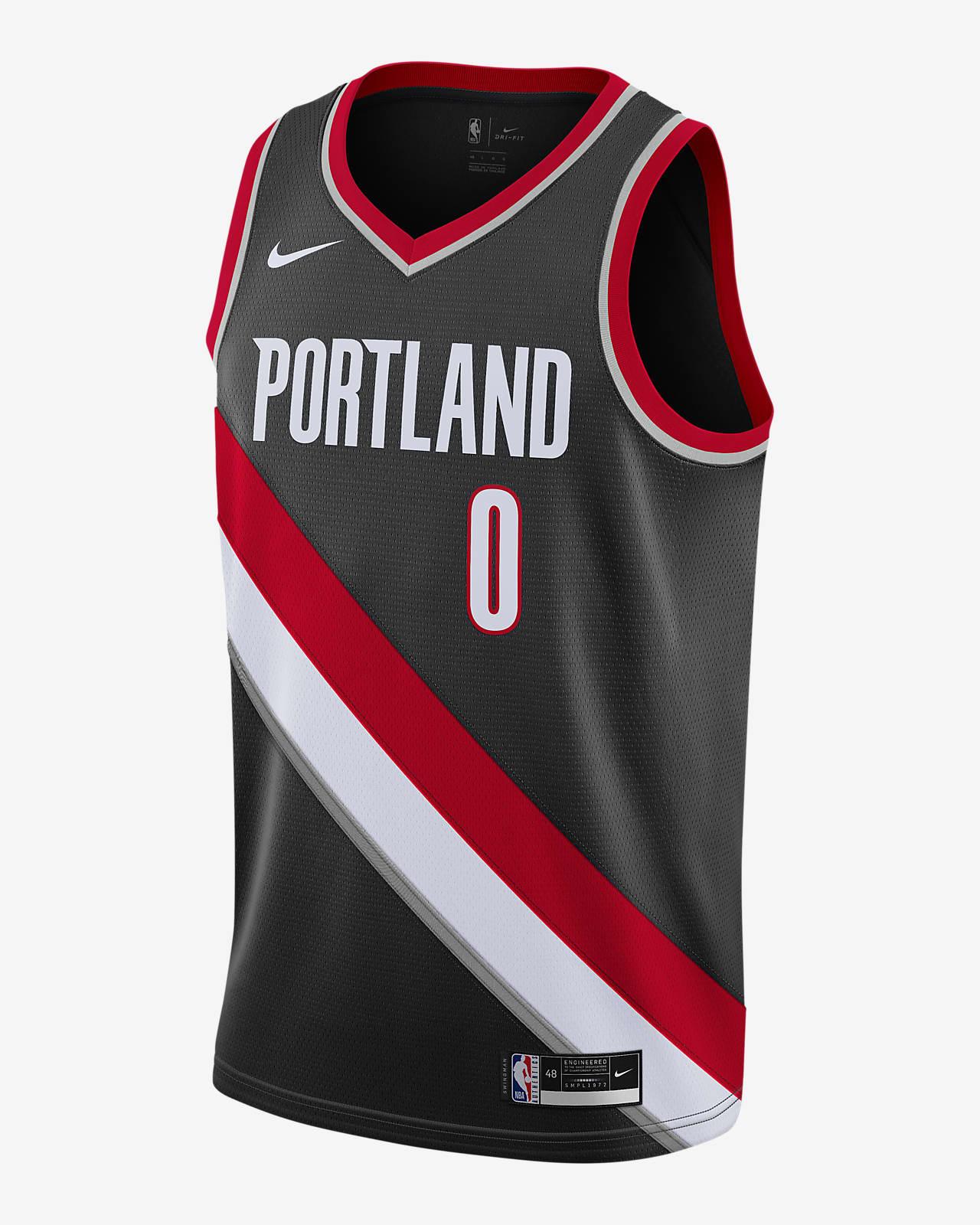 เสื้อแข่ง Nike NBA Swingman Damian Lillard Trail Blazers Icon Edition 2020