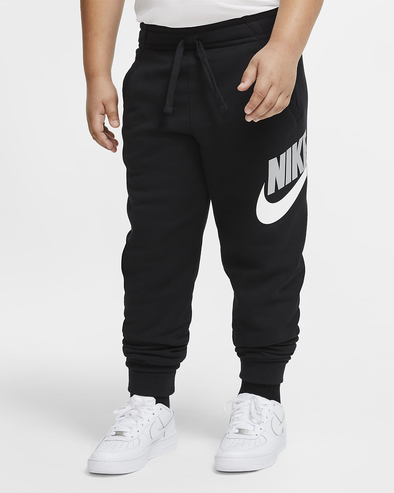 Kalhoty Nike Sportswear Club Fleece pro větší děti (chlapce) (rozšířená velikost)