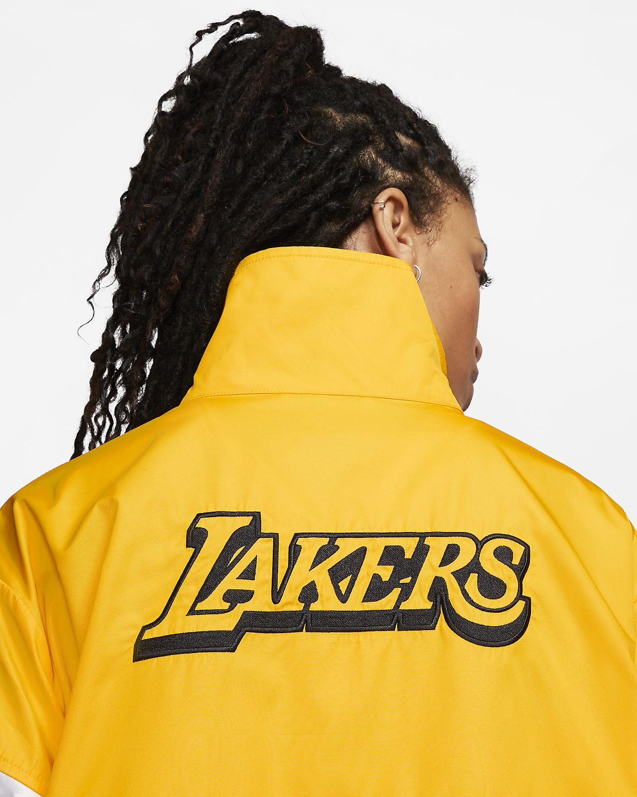 Damska kurtka z napami NBA Nike Lakers Courtside City Edition