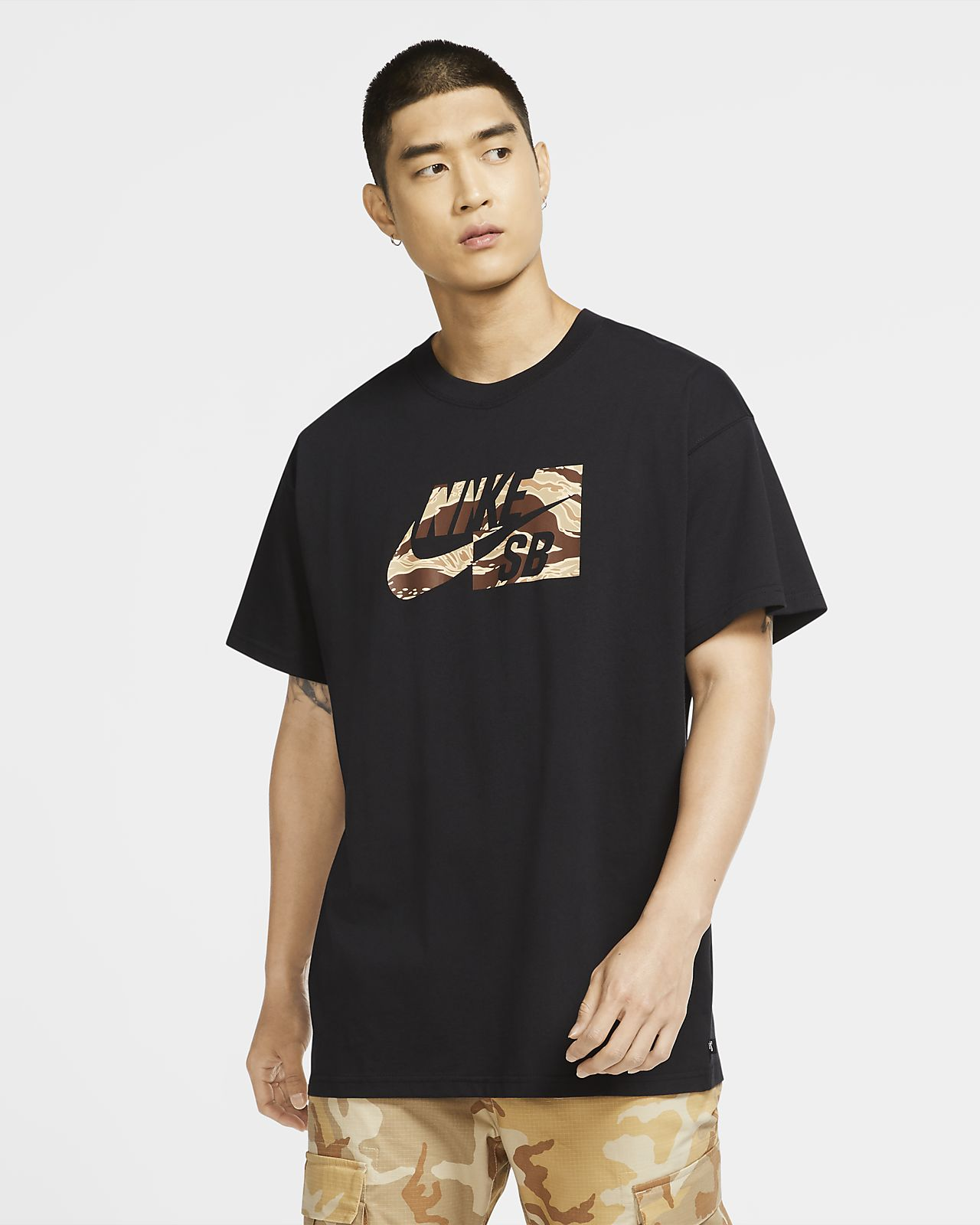 Playera de skateboarding camuflada para hombre Nike SB