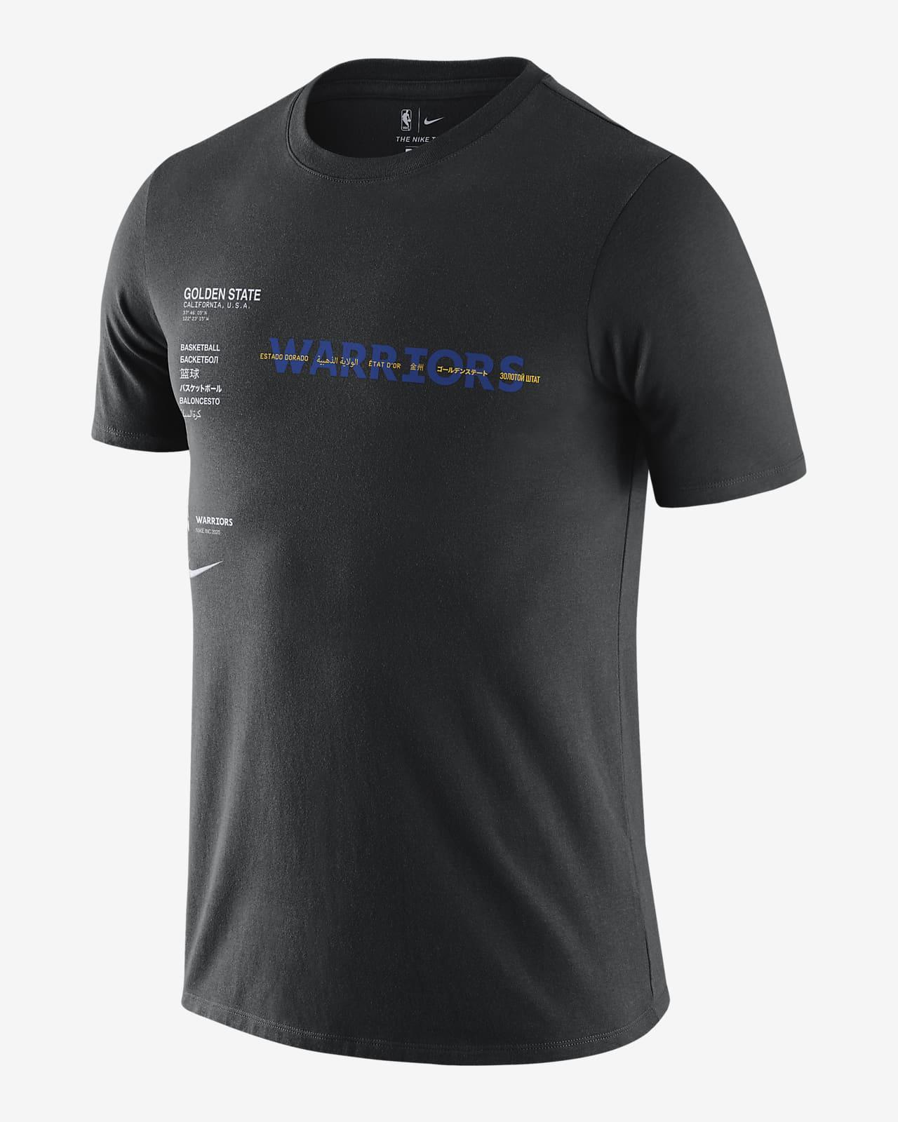 ウォリアーズ コートサイド メンズ ナイキ NBA Tシャツ