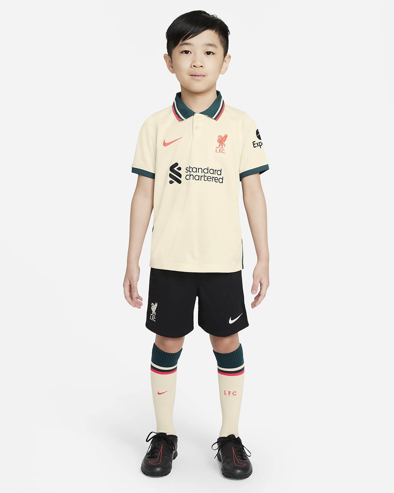 Liverpool F.C. 2021/22 Away Younger Kids' Football Kit